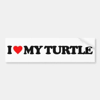 I LOVE MY TURTLE BUMPER STICKER