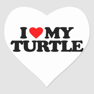 I LOVE MY TURTLE HEART STICKER