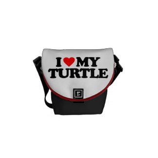I LOVE MY TURTLE MESSENGER BAG
