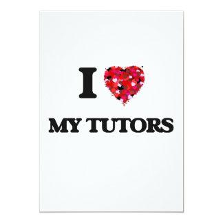 I love My Tutors 13 Cm X 18 Cm Invitation Card
