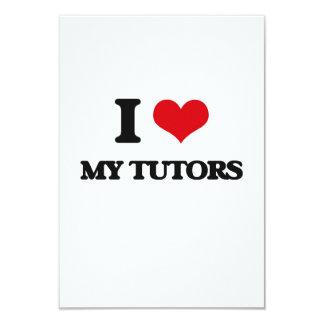 "I love My Tutors 3.5"" X 5"" Invitation Card"