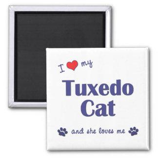 I Love My Tuxedo Cat (Female Cat) Magnet