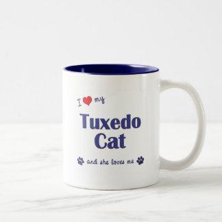 I Love My Tuxedo Cat (Female Cat) Coffee Mug
