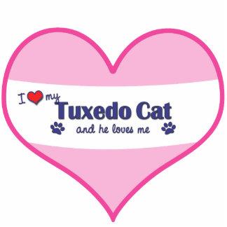 I Love My Tuxedo Cat (Male Cat) Photo Sculptures