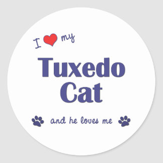I Love My Tuxedo Cat (Male Cat) Stickers