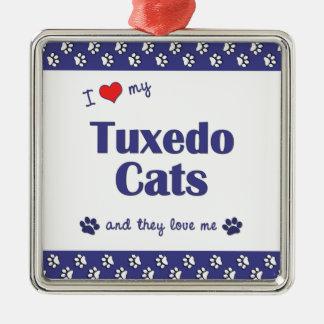 I Love My Tuxedo Cats (Multiple Cats) Christmas Ornament