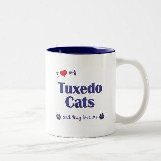 I Love My Tuxedo Cats (Multiple Cats) Mug