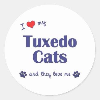 I Love My Tuxedo Cats (Multiple Cats) Stickers