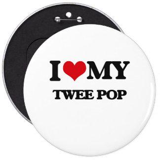 I Love My TWEE POP Pinback Button