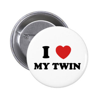 I Love My Twin 6 Cm Round Badge