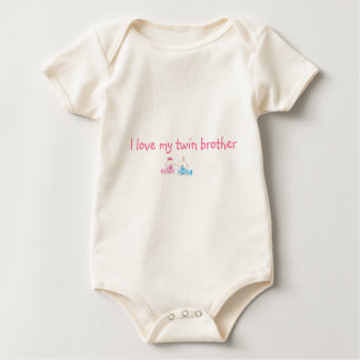 I love my twin brother baby bodysuit
