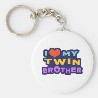 I Love My Twin Brother Key Ring