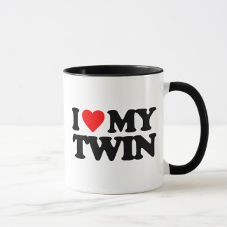 I LOVE MY TWIN MUG