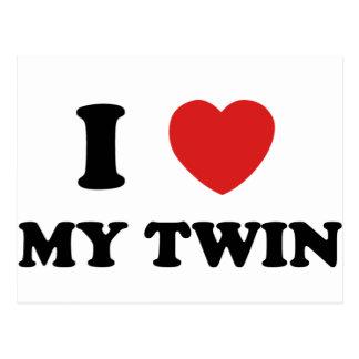 I Love My Twin Postcard