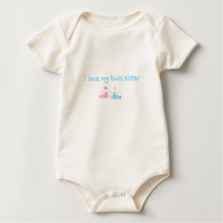 I love my twin sister baby bodysuit