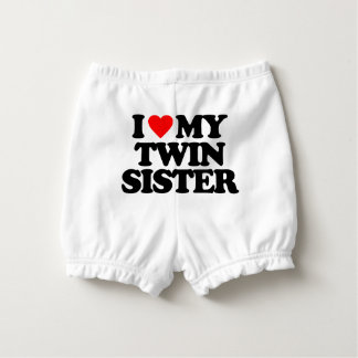 I LOVE MY TWIN SISTER NAPPY COVER