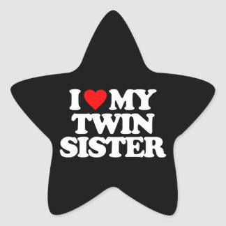 I LOVE MY TWIN SISTER STICKERS