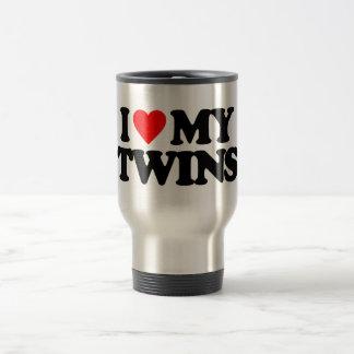 I LOVE MY TWINS STAINLESS STEEL TRAVEL MUG