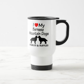 I Love My Two Bernese Mountain Dogs Mug