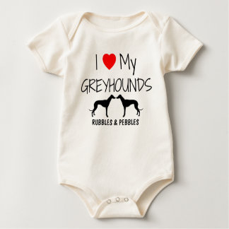 I Love My Two Greyhounds Creeper
