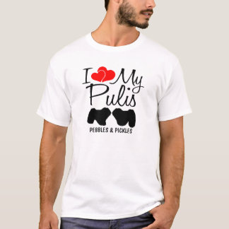 I Love My Two Puli Dogs T-Shirt