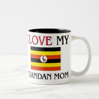 I Love My Ugandan Mom Two-Tone Coffee Mug