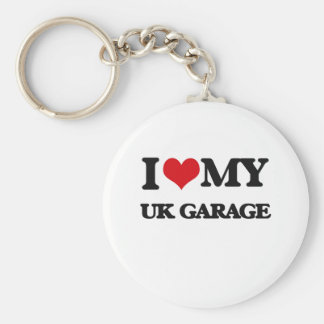 I Love My UK GARAGE Key Chains