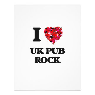 I Love My UK PUB ROCK 21.5 Cm X 28 Cm Flyer