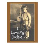 I Love My Uke Postcard