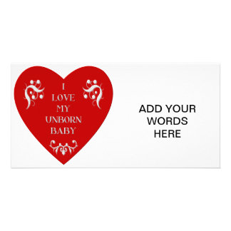 I love my unborn baby personalised photo card