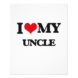 I love my Uncle 11.5 Cm X 14 Cm Flyer