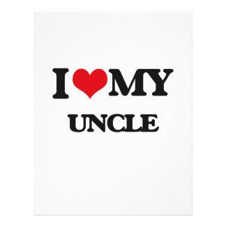 I love my Uncle 21.5 Cm X 28 Cm Flyer