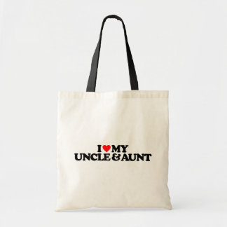 I LOVE MY UNCLE AUNT TOTE BAGS