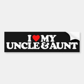 I LOVE MY UNCLE & AUNT BUMPER STICKER
