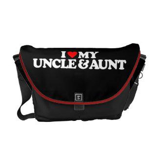 I LOVE MY UNCLE & AUNT COURIER BAG