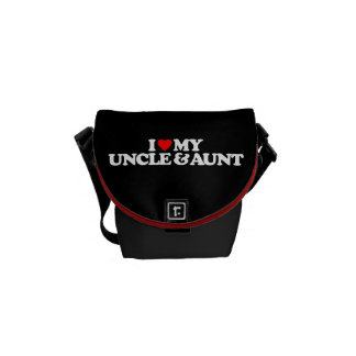I LOVE MY UNCLE AUNT MESSENGER BAGS