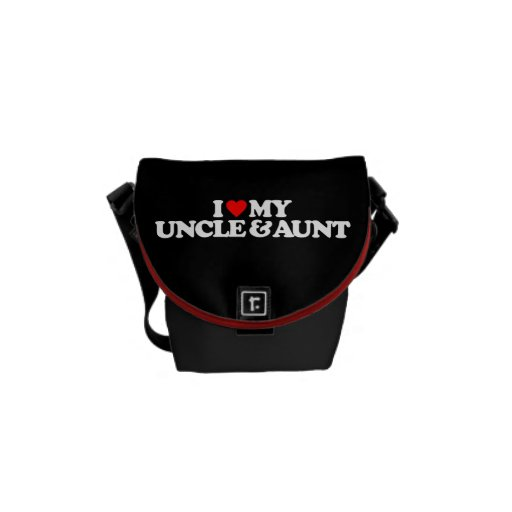 I LOVE MY UNCLE & AUNT MESSENGER BAGS