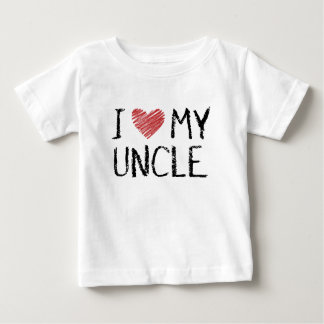 I Love My Uncle Baby T-Shirt