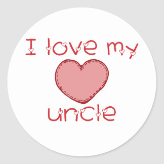 I love my uncle classic round sticker