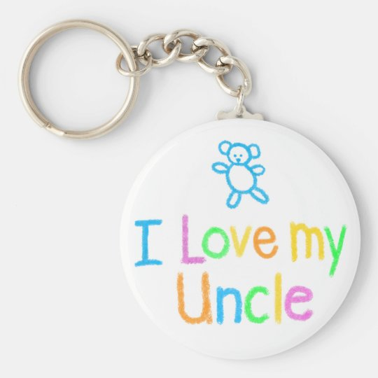 I Love My Uncle Key Ring