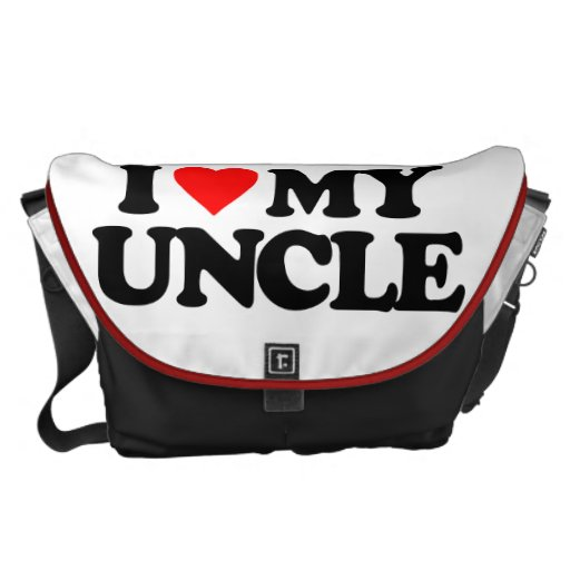 I LOVE MY UNCLE COURIER BAG