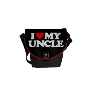 I LOVE MY UNCLE COURIER BAGS