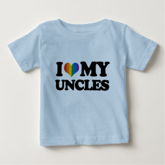 I Love My Uncles Baby T-Shirt