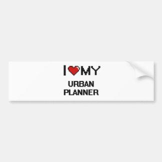 I love my Urban Planner Car Bumper Sticker