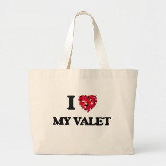 I love My Valet Jumbo Tote Bag