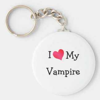 I Love My Vampire Key Ring