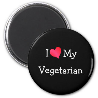 I Love My Vegetarian Magnet