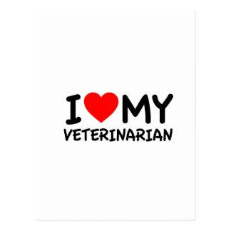 I love my veterinarian postcard