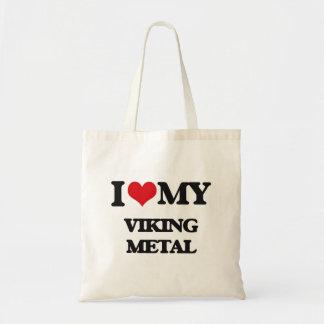 I Love My VIKING METAL Canvas Bag