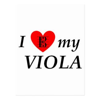 I Love My Viola (I Heart My Viola) Postcard